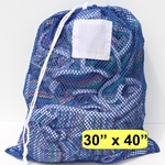 "Laundry Bag Blue Mesh Net 30"" x 40"""