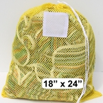 Laundry Bag Yellow Mesh Net