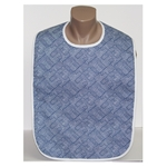 Adult Bib: Cross Check Blue