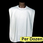 Adult Bib: Terry Cloth White