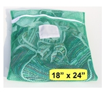 Green Zipper Wash Bag