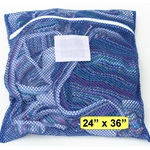 Blue Zipper Wash Bag Large