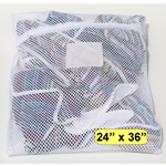 White Zipper Mesh Net Bag