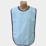 Adult Bib Light Blue Waterproof Back Barrier