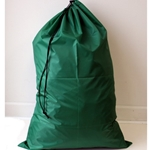 "Green 24""x 36"" polyester laundry bag"