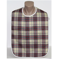Plaid Adult Bibs