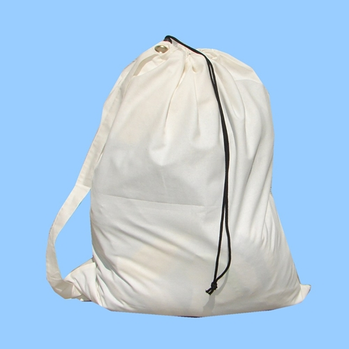 "100% Cotton Laundry Bag 18"" x 26"" with Carry Strap (each)"