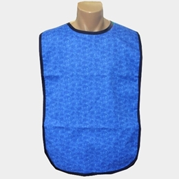 Adult Bib Blue Marble Waterproof Back Barrier (each) US Made
