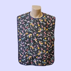 Adult Bib Butterfly Design Waterproof Back (each)