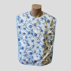 Adult Bib Floral Design Waterproof Back (each)