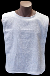 Adult Bib White Various Neck Closures (Per Dozen)