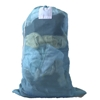 "Light Blue Mesh Net Draw String Laundry Bags 24"" x 36"""