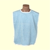 Blue Adult Terry Cloth Bibs Blended Premium (Each)