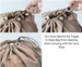 Instructions on How to Tie a Knot Behind Toggle to Keep Bag from Opening