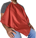 Burgundy Napkin Adult Bib Spun Polyester Waterproof Back on a seated male model