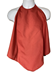 Burgundy Napkin Adult Bib Spun Polyester Waterproof Back on a Mannequin