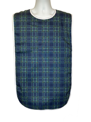 Full Front View of the Admiral Blue Green Adult Bib