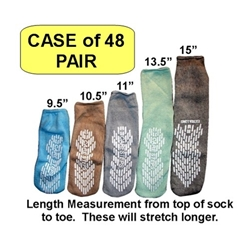 Care Steps Single Sided Slipper Socks (Case of 48)