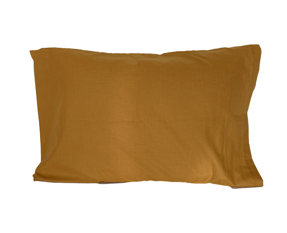 Golden Brown Pillowcases (Six Pack) - Standard Size 180 Thread Count