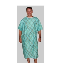 Green Hospital Gown IV Pocket with Shoulder Snaps (each)