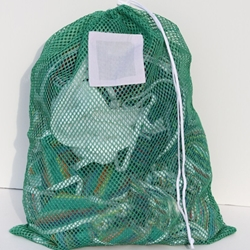 "Green Mesh Net Draw String Laundry Bags 30"" x 40"""