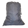 Grey Polyester Laundry Bags 22x28 with drawstring and 2 grommets