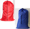 "Blue or Red Non Washable Polyester Bag 24"" x 36"" - Medium Sized Laundry Bag"