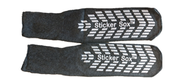 Oversized Sticker Sox Slipper Non Slip Socks - for Size 13+ (per pair)