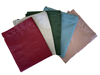 Pack of five laundry bags with assorted colors: Burgundy, Grey, Green, Blue and Light Pink