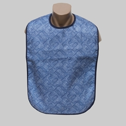 Super Soaker Azure Adult Bib Waterproof Back (each)