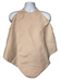 Tan Napkin Adult Bib Spun Polyester Waterproof Back on a Mannequin