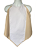 Back View of Tan Napkin Adult Bib Showing Waterproof Backing Running Down the Middle