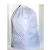 "White Medium Polyester Bag with Drawstring and Toggle Approximately 24""x36"""