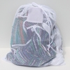 "White Mesh Net Draw String Laundry Bags 30"" x 40"""