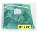 "Zipper Green Mesh Net Laundry Bags 18"" x 24"""