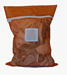 Small Orange Mesh Laundry Bag with Zipper and Sewn in ID Tag in the Front Center